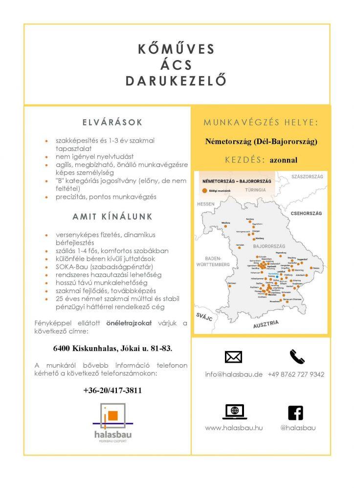 Halasbau Kft. - Kőműves, Ács, Darus